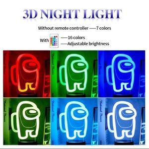 Among Us Night Light 3D Illusion Lamp